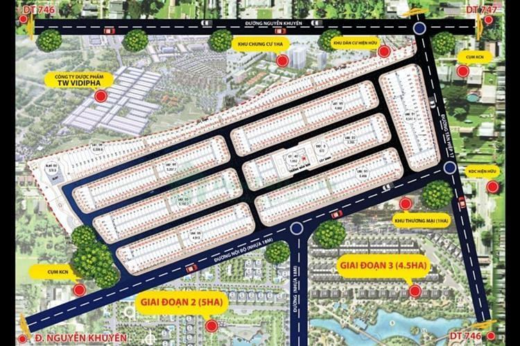 Vị trí dự ánVision City Bình Dương