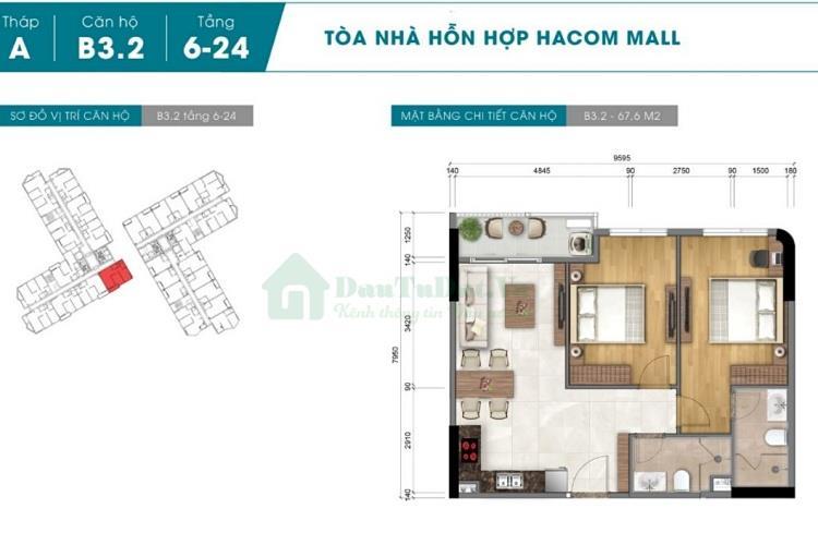 Mặt bằng dự ánHacom Mall Ninh Thuận