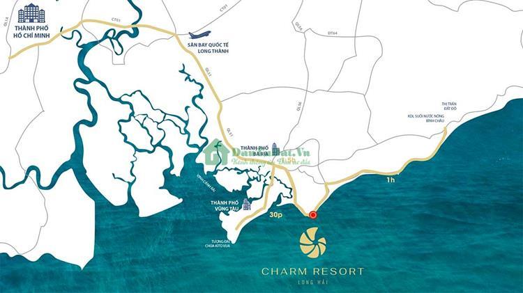 Vị Trí Charm Resort Long Hải