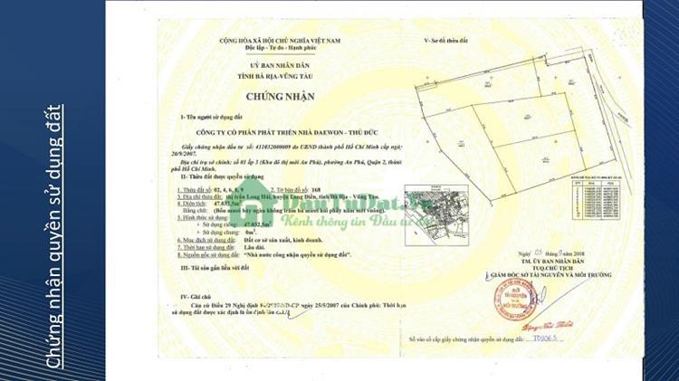 Pháp lý Charm Resort Long Hải
