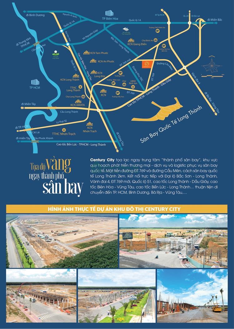 Vị trí tiềm năng Century City Kim Oanh