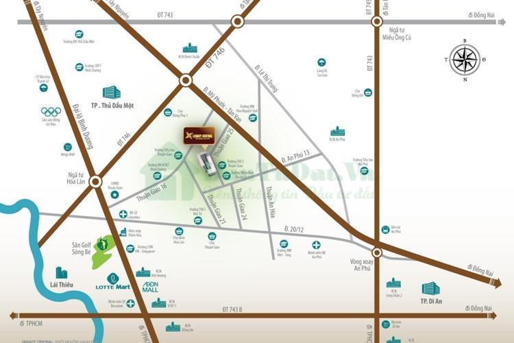Vị trí Dự án căn hộ Legacy Central Thuận An