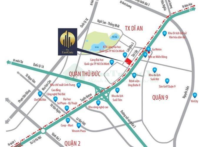 Vị trí tiềm năng Căn hộ Kim Oanh The EastGate