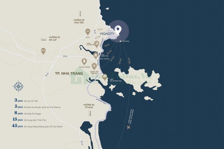 Vị trí chiến lược Vega City Nha Trang