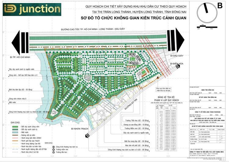 Mặt bằng quy hoạch dự án ID Junction Long Thành