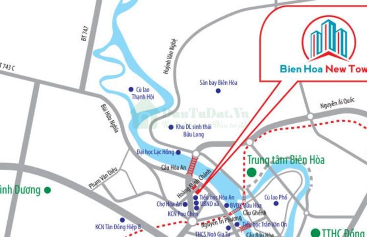 Vị trí Bien Hoa New Town