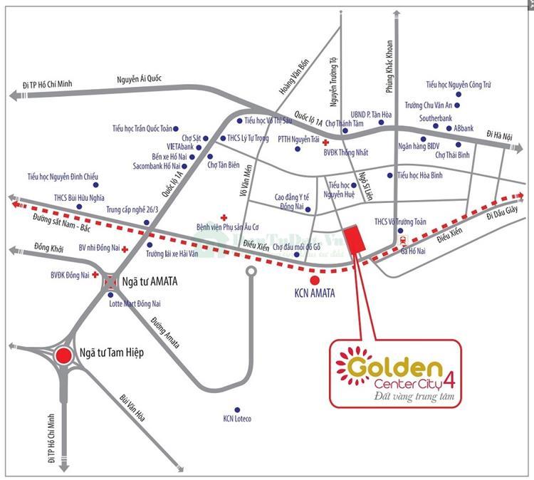 Vị trí vàng Dự án Golden Center City