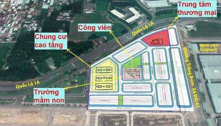Mặt bằng quy hoạch dự án khu đô thị Bàu Xéo Đồng Nai