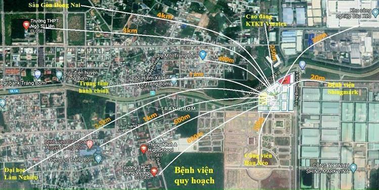Vị trí nổi bật của dự án Khu đô thị Bàu Xéo