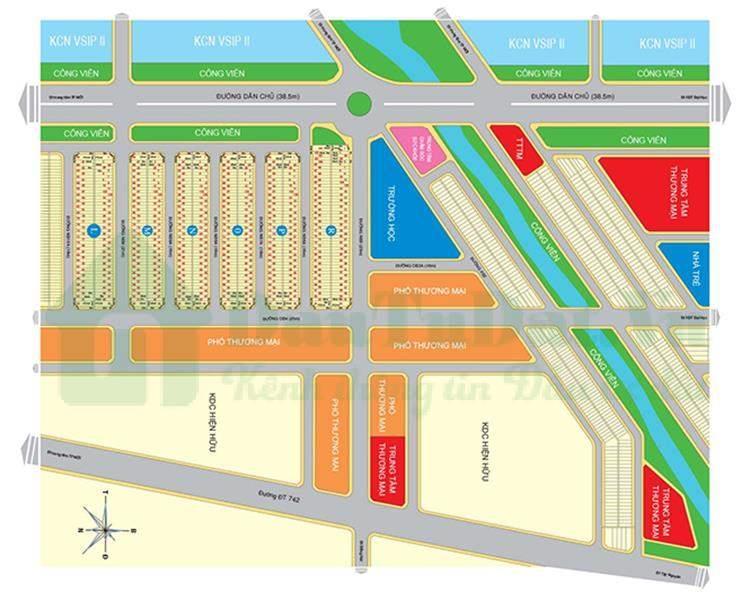 Mặt bằngMặt bằng quy hoạch dự án The Mall City 2