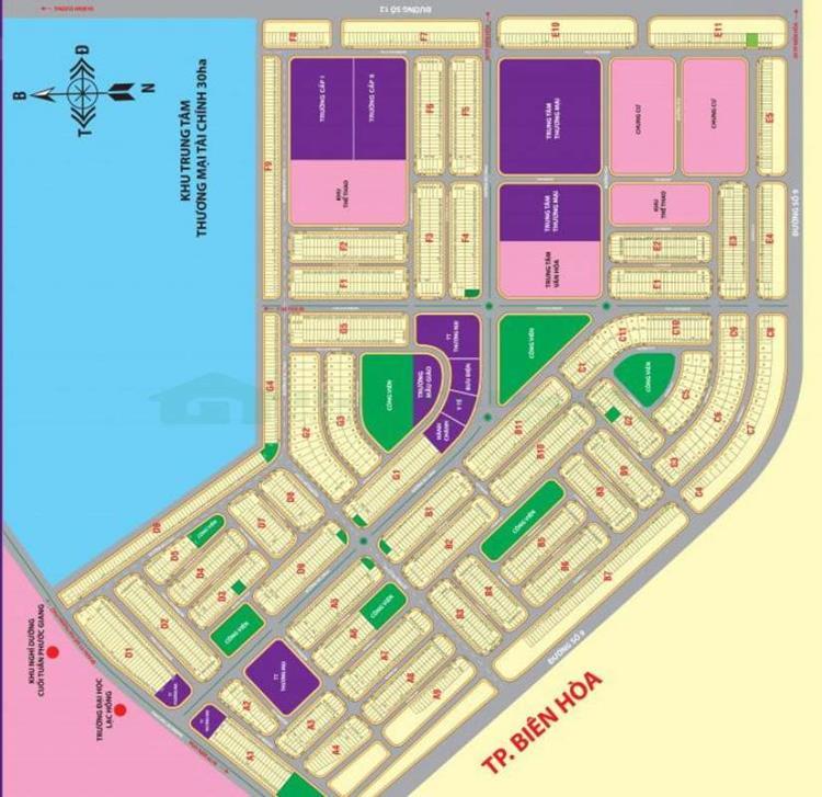 Mặt bằng quy hoạch Lavender City