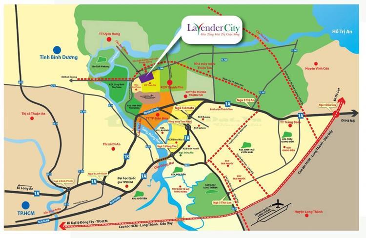 Vị trí Khu đô thị Lavender City