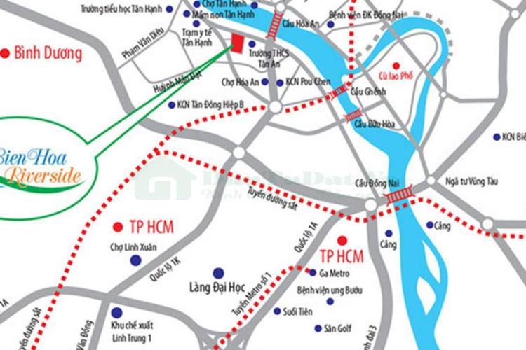 Vị trí dự án Biên Hoà Riverside Tân Hạnh