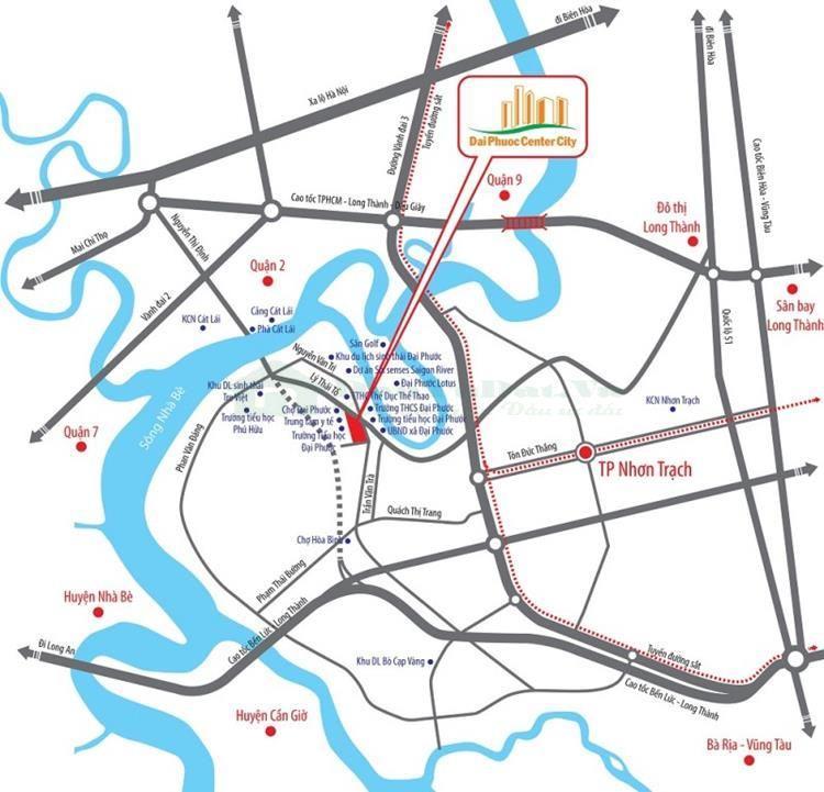 Vị trí Đại Phước Center City