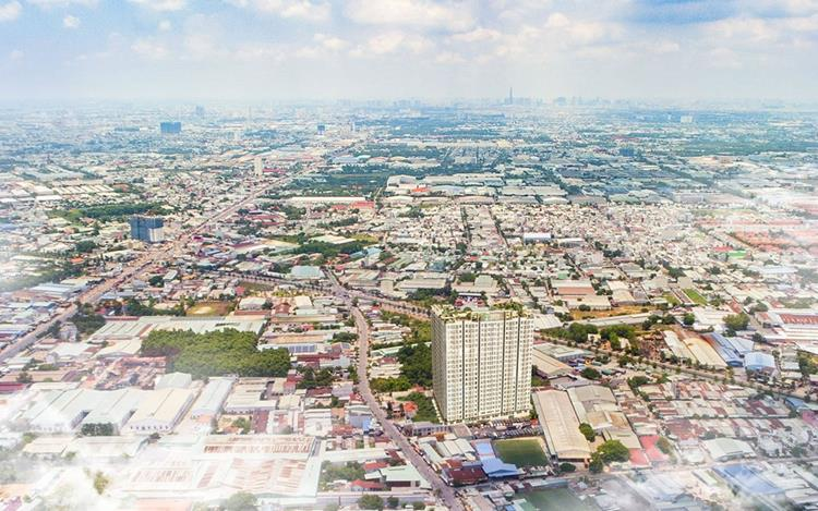Vị trí Dự án hộ Đất Xanh Homes City View