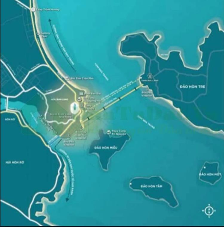 Vị trí nổi bật của dự án AnCruising Nha Trang
