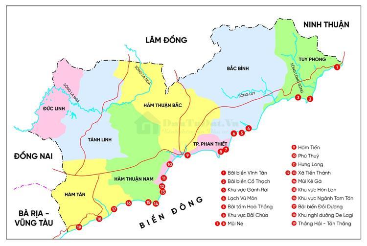 Bản đồ du lịch Phan Thiết