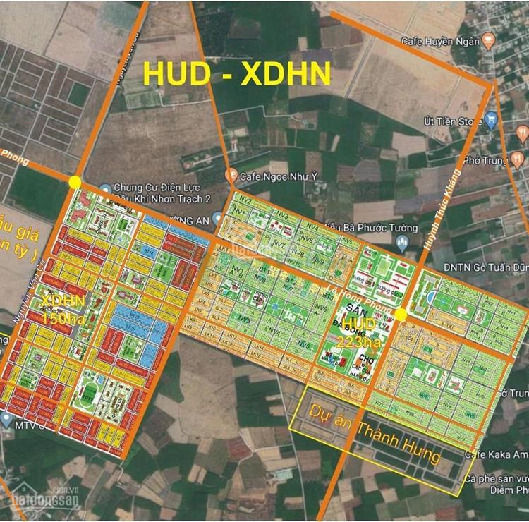 Mặt bằng dự án Hud Nhơn Trạch