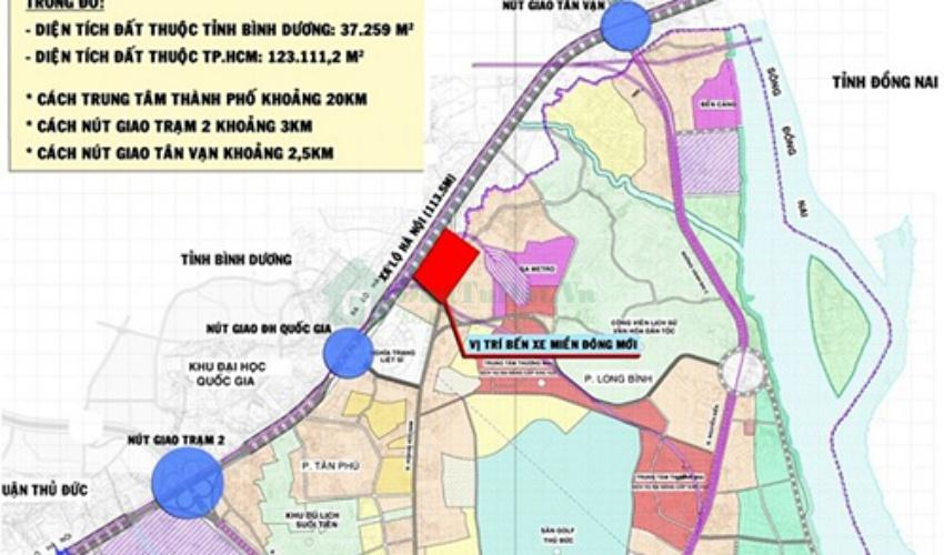 Bản đồ quy hoạch bến xe Miền Đông mới