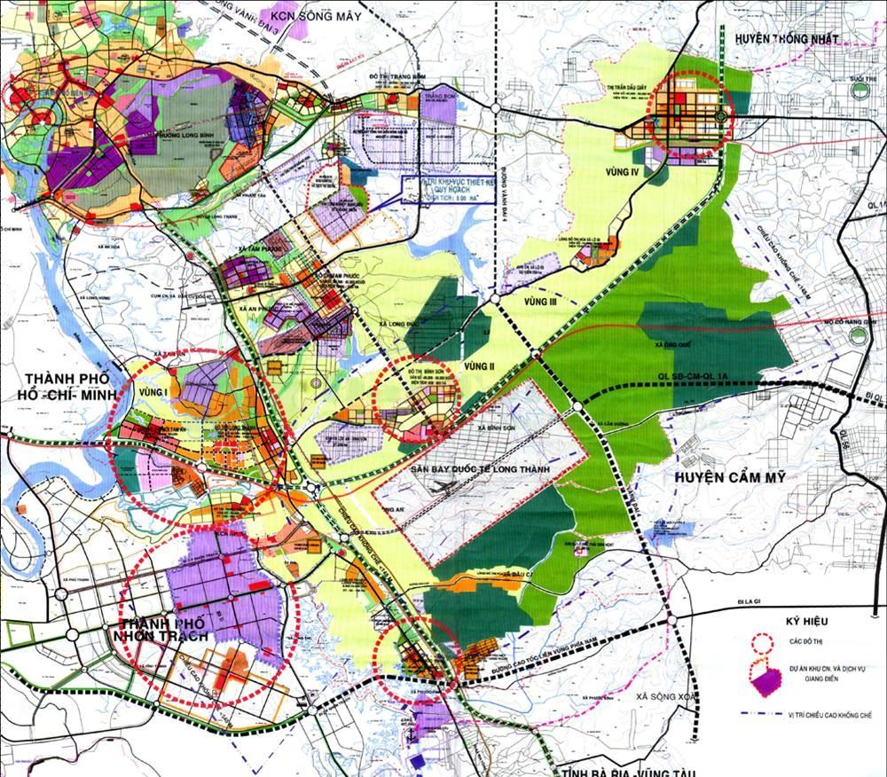 bản đồ kết nối Sân Bay Long Thành